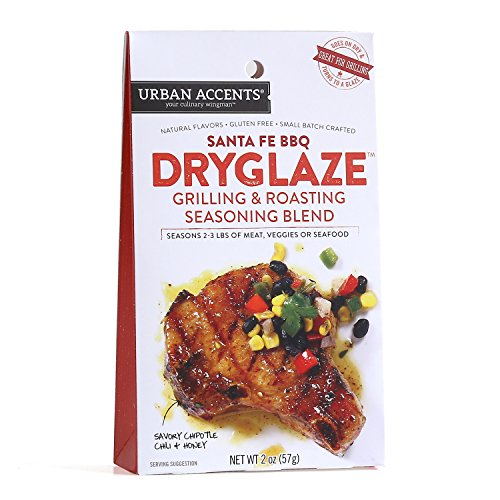 Santa Fe BBQ Grilling and Roasting Dryglaze – Gourmet Seasoning Mix - Urban Accents, 2.0-Ounce (Santa Fe Bbq)