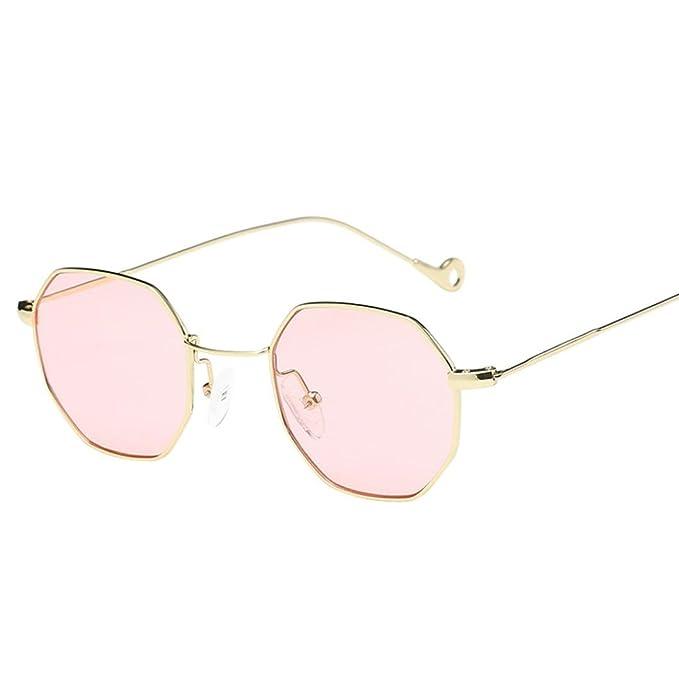 OverDose Unisex Sommer Frauen Männer Moderne Modische Spiegel Polarisierte Katzenauge Metallrahmen Sonnenbrille Brille Damensonnenbrille