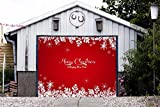 Single Garage Door Covers Christmas Billboard Decorations of House Garage Merry Christmas Full Color Door Decor 3D Effect Print Mural Banner Holiday Decor Garage Door Banner Size 83 x 96 inches DAV69