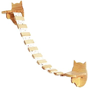 Da Jia Inc - Estantería pequeña de madera para gato o gatito ...