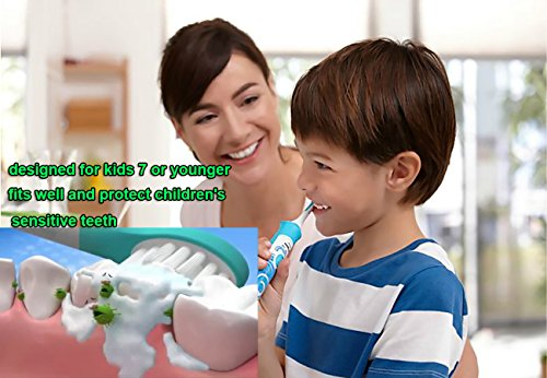 Kids Electric Toothbrush Replacement Heads for Sonicare For Kids 2-7 Years Old Fits HX6311/07 HX6311/02 by DA BENBEN (Image #2)