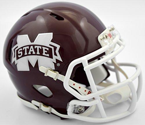 Riddell NCAA Mississippi State Bulldogs Helmet Mini SpeedHelmet Replica Mini Speed Style, Team Colors, One Size