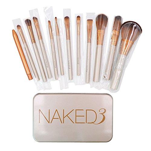 AiSi 12 Pcs Bamboo Handle Makeup Brushes Kabuki Powder Foundation blusher Cosmetic Brushes With Box by AiSi