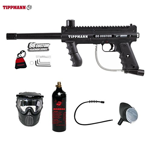 MAddog Tippmann 98 Custom Bronze Paintball Gun Package - Black ()
