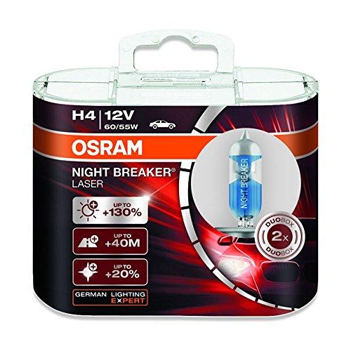 Osram H4 12V 60/55W 64193NBL NIGHT BREAKER LASER Car Lamps Halogen Headlight Hi/lo Beam 2X