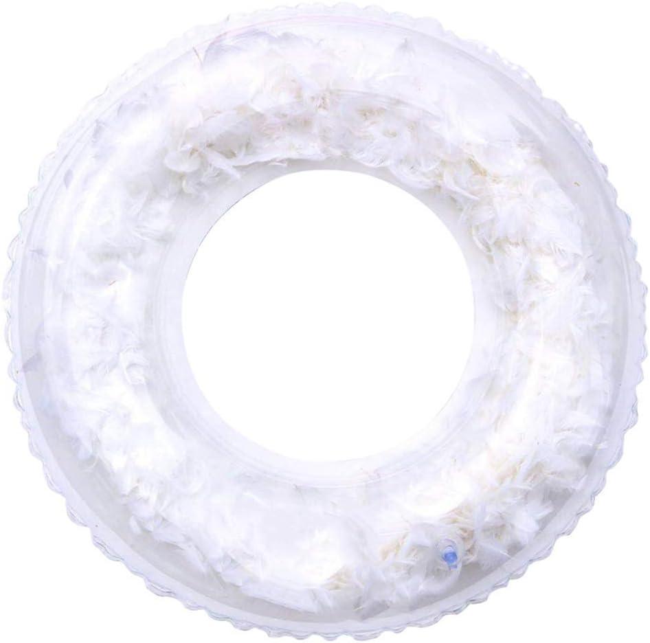 ED-Lumos Rueda Hinchable Transparente Llena de Pluma Artificial ...