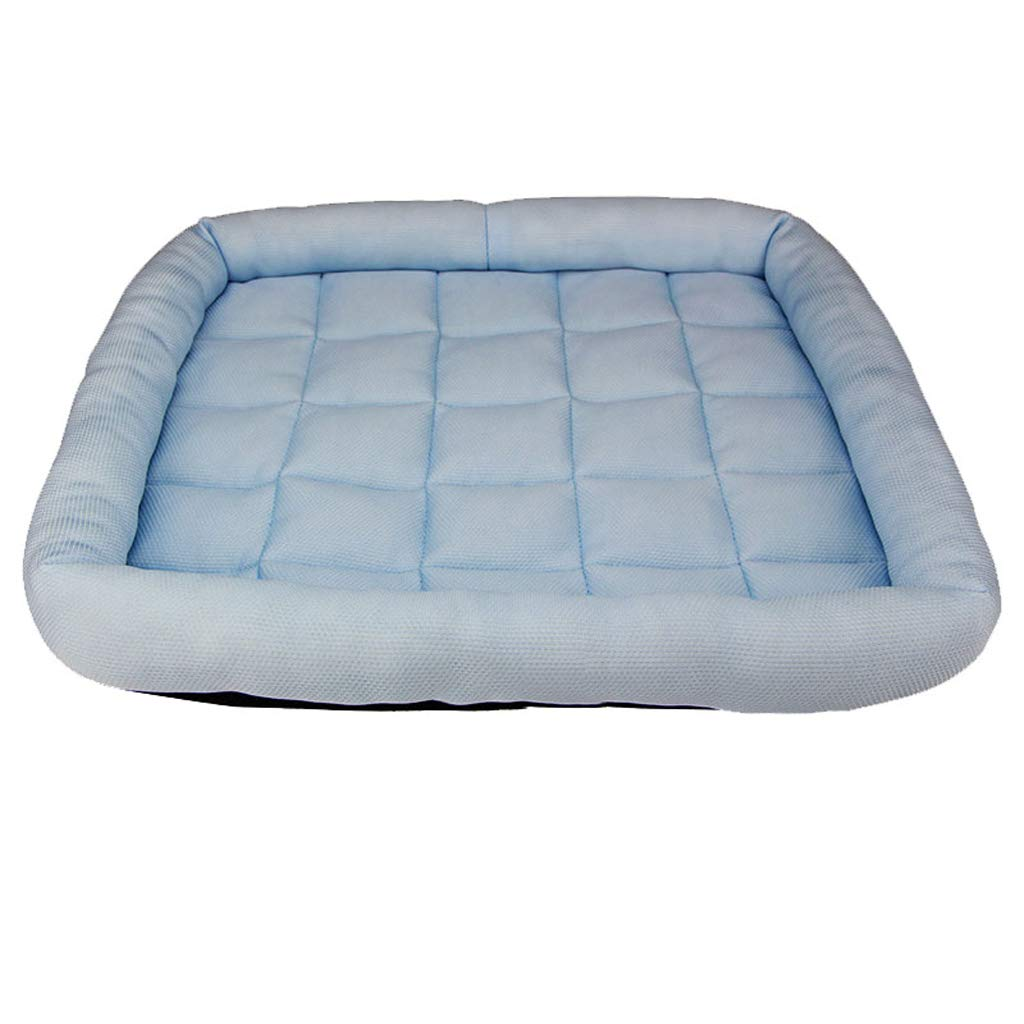 bluee SPLDDY pet Bed Fiber Fabric Filled Pet Bed Choice of Size (color   bluee, Size   S)