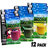 Arkopia Freeze Dried Smoothies - 12pk | The Freshest Smoothies in Canada | $6.99 each FREE SHIPPING | 12pk Net Weight 672g/24oz | Each makes one16-24oz Smoothie | 100% pure, whole, raw, natural | All the nutrients as fresh | Stays fresh for 25 years | Jus