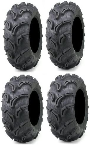 Full set of ITP Mud Lite II 4 27x9-12 and 27x11-12 ATV Tires 6ply