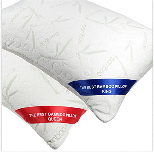 S AFSTAR Safstar Bamboo Memory Foam Hypoallergenic Pillow With Carry Bag (Set of 2)