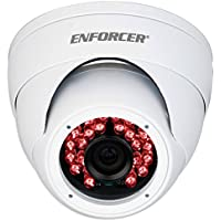 SECO-LARM EV-Y2201-A2WQ ENFORCER 4-in-1 HD TVI, CVI, AHD, Analog Fixed Rollerball Camera, White, 1/2.7 2MP Aptina CMOS, Resolution (HD) 1920x1080, Viewing Angle 90°, 1200 TV Lines (Analog)