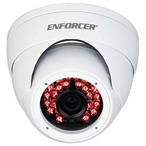 SECO-LARM EV-Y2201-A2WQ ENFORCER 4-in-1 HD TVI, CVI, AHD, Analog Fixed Rollerball Camera, White, 1/2.7