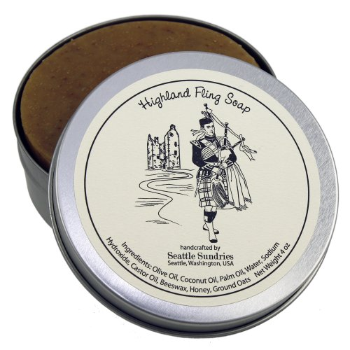 Highland Fling Soap-100% Natural & Hand Made. Handy Travel Gift Tin. Great For Scottish Bagpipe (Homemade Day Of The Dead Costume)