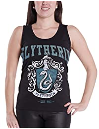 Harry Potter Vest Top Slytherin Emblem Official Womens New Skinny Fit Racerback