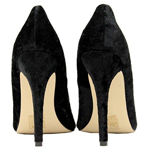 Ladies Low Mid High Stiletto Heels Pointy Pump Women Work Smart Court Shoes Size Black Velvet dstYbe
