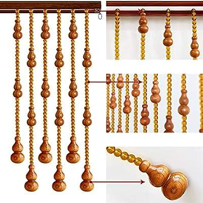 GuoWei-Cortinas de Cuentas Vaso Cristal Perlas de Madera Calabaza Colgantes Decoración Puerta Tabique Salón Colgando Panel Personalizable (Color : A, Tamaño : 25 strands-80x198cm): Amazon.es: Hogar