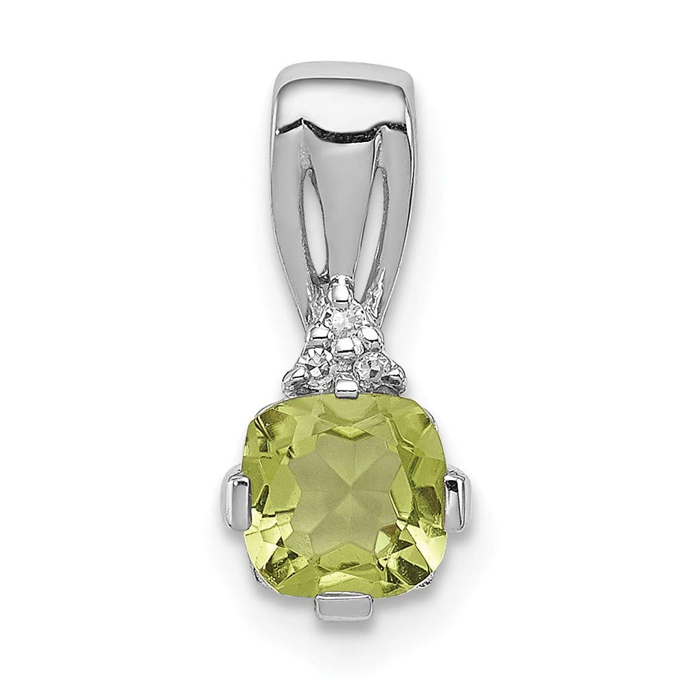925 Sterling Silver Diamond Green Peridot Pendant Charm Necklace Gemstone Fine Jewelry Gifts For Women For Her