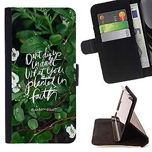 King Case - FOR Samsung Galaxy S4 IV I9500 - My heart is with you - Prima caja de la PU billetera de cuero con ranuras para tarjetas, efectivo Compartimiento desmontable y correa para la mu?eca
