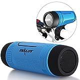 Zealot S1 Bluetooth Bicycle Speaker Outdoor Portable Speakers 4000mAh Power Bank Waterproof Speakers with Bike Mount Cycling Accessories (Blue)