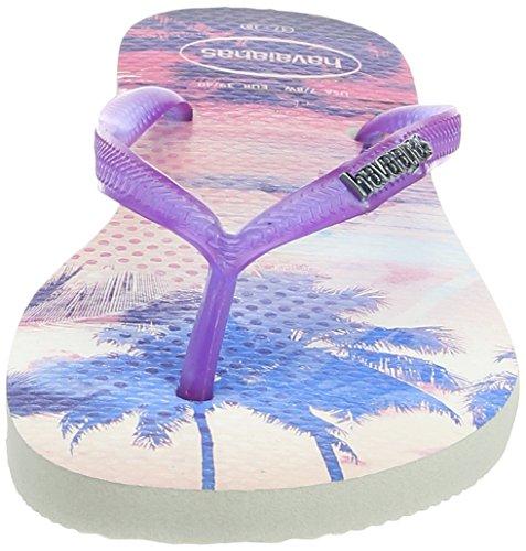 Mujer white Morado purple Chanclas Slim Paisage Havaianas Para qpwH8PIv
