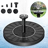 PETBROO Solar Fountain Pump, Solar Powered Bird Bath Fountain Pump 1.4W Solar Panel Kit Water Pump