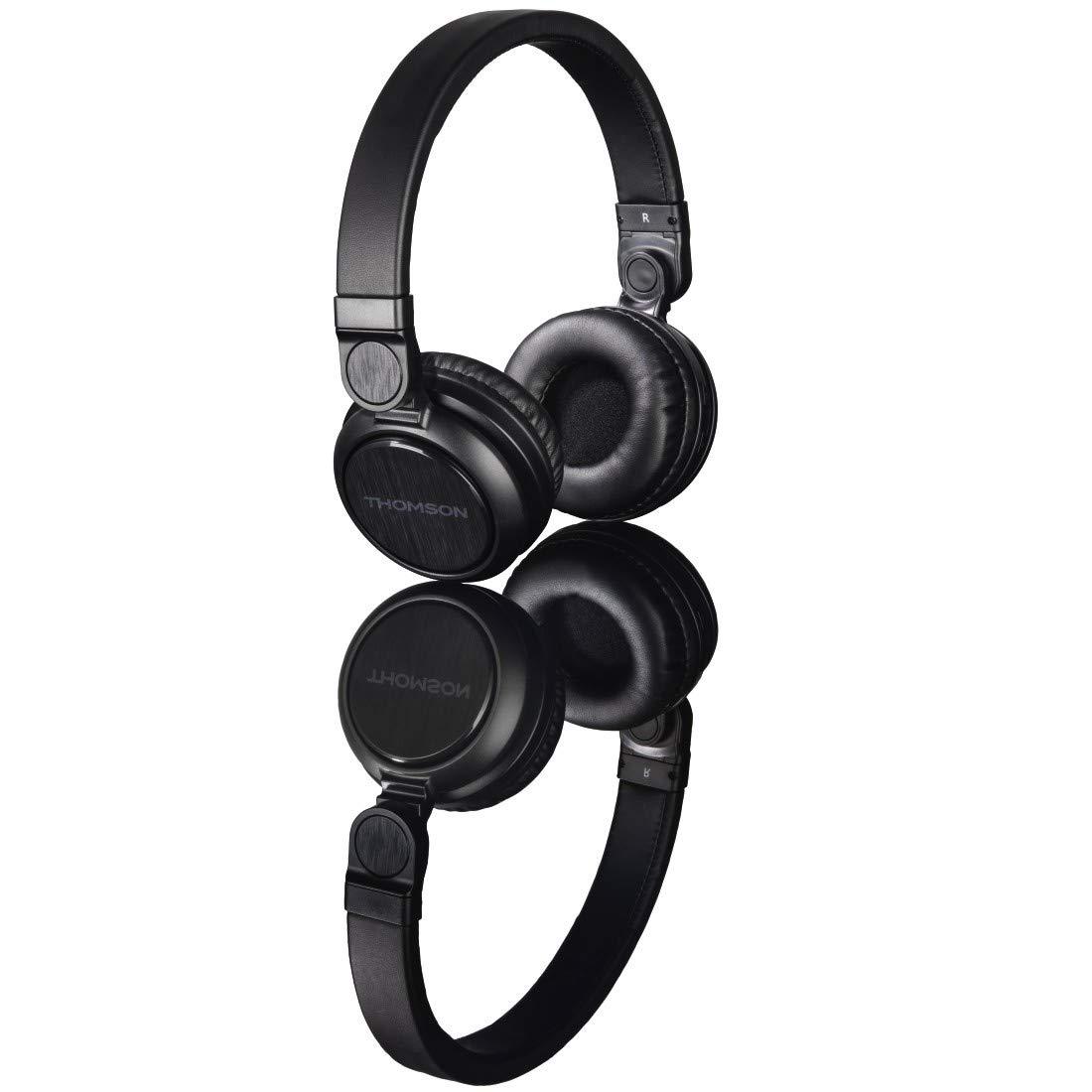 Hama WHP-6007B Diadema Binaural Alámbrico Negro - Auriculares (Alámbrico, Diadema, Binaural, Supraaural, 109 dB, Negro): Amazon.es: Informática