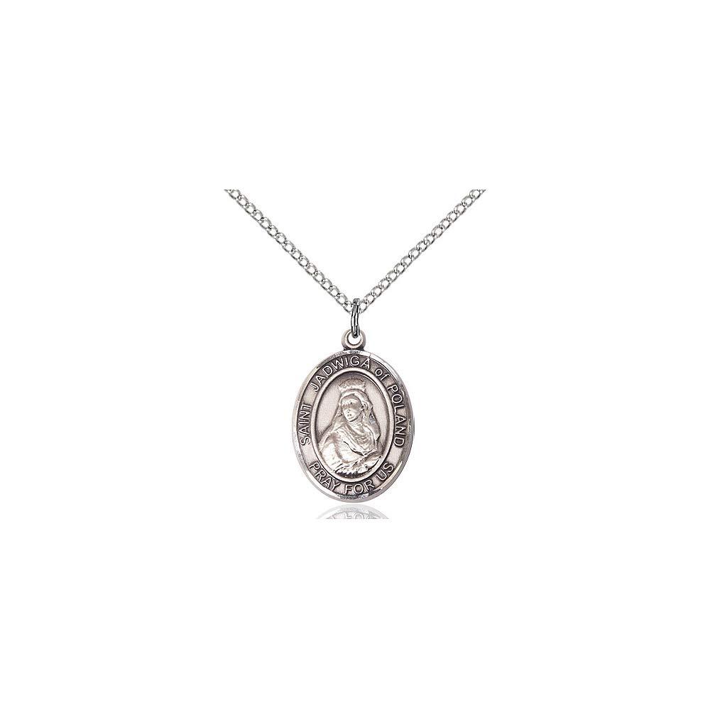 DiamondJewelryNY Sterling Silver St Jadwiga of Poland Pendant