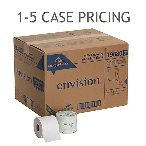 Georgia-Pacific Envision Bath Tissue 2-Ply White 80ct 1-5 Case Pricing - Envision Bath Tissue 2 Ply