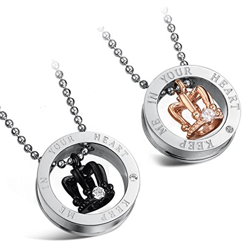 Flongo Stainless Steel Pendant Necklace