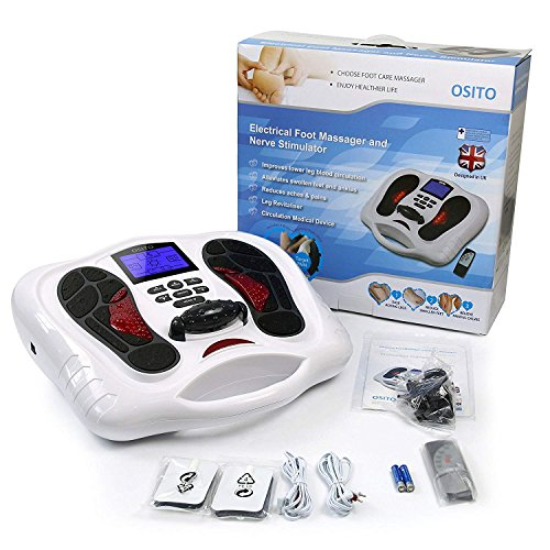 Foot Circulation Plus - EMS Feet and Legs Massager Machine for Neuropathy- Nerve Muscle Massage Stimulator with Infrared Remote to Reduce Swelling Foot Calf Ankle Leg and Body Pain Reflexology