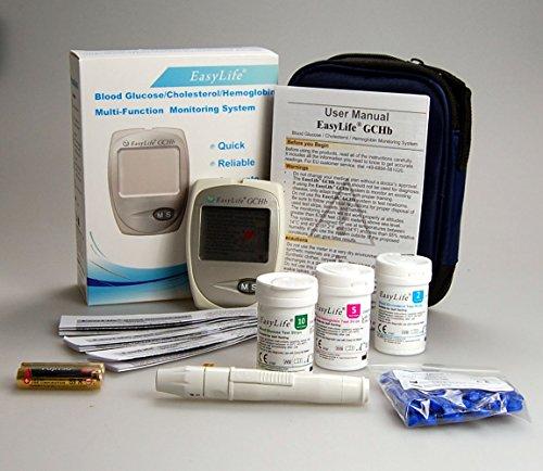 Free Blood Glucose Meter >> Easy Life Cholesterol Test Kit Monitor Meter starter pack ...