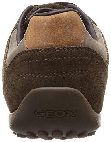 Geox Uomo Snake - Zapatillas de estar por casa Hombre Marron Chestnut