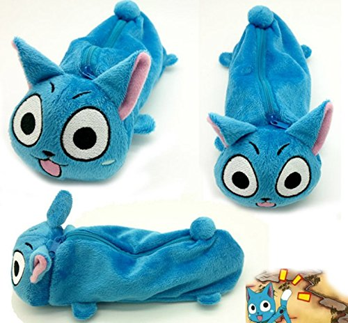 Mxnpolar Fairy Tail Lucy Cosplay Happy Cat Pencil-bag Bag Student Accessory