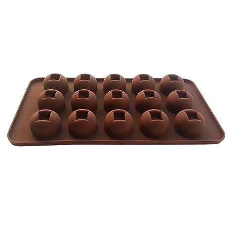 fanhesheng 15 Chocolate moldes, moldes Lollipop del molde, Candy, hielo moldes, moldes de silicona, moldes de cocción de silicona: Amazon.es: Hogar