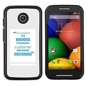 EJOOY---Cubierta de la caja de protección para la piel dura ** Motorola Moto E ** --servicio de los clientes de negocios el trabajo inspirador