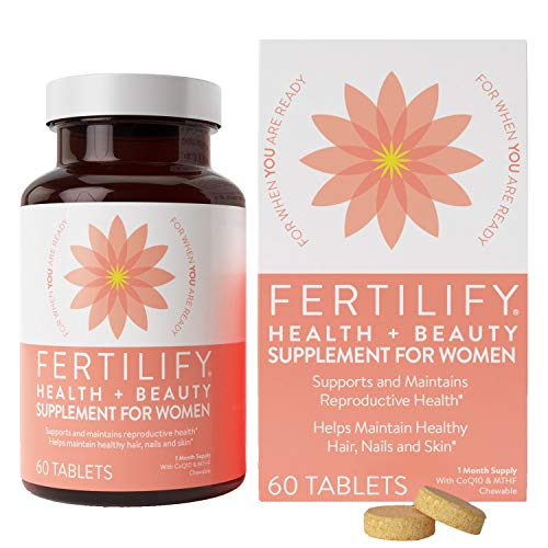 FERTILIFY Support Prenatal Fertility Beauty Vitamin (Folic Acid To Get Pregnant With Twins)