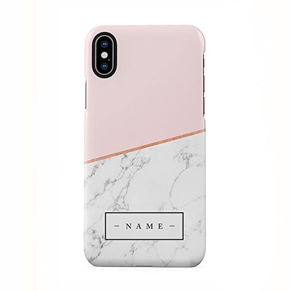 08af88edd9d60 Amazon.com: Personalised Custom Initial Name Pink Marble Create Your ...