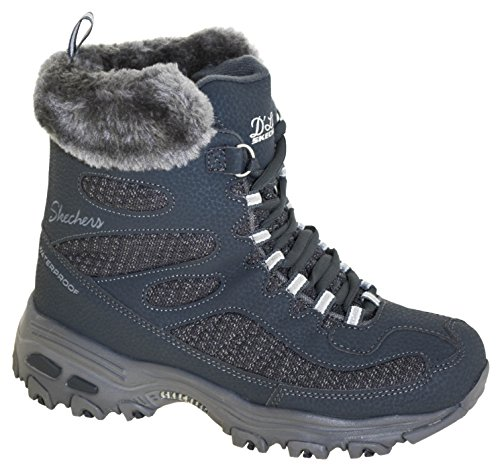 (Skechers Women's D'Lites-Snow Plaza Winter Boots Style 48634 CCL, 5.5W)