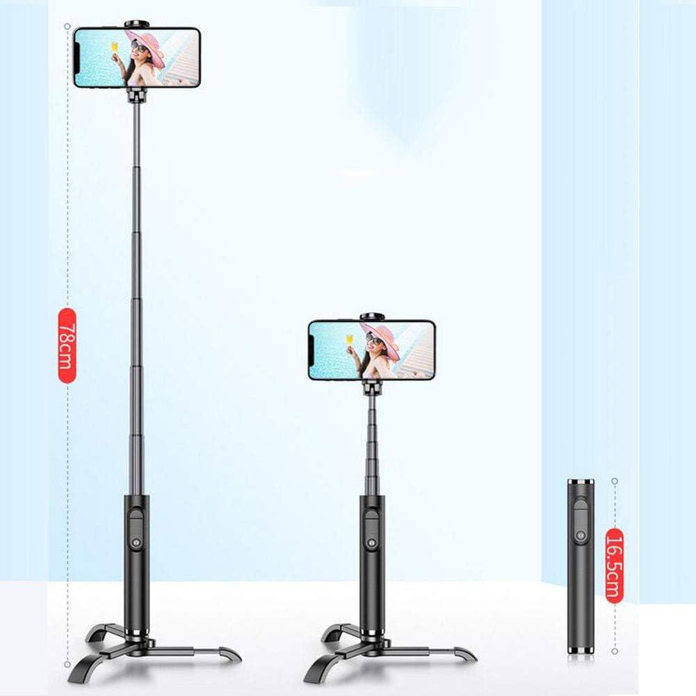 Extendable Mini Selfie Stick Rechargeable,Black LSYOA Bluetooth Wireless Remote Selfie Stick Tripod Stand