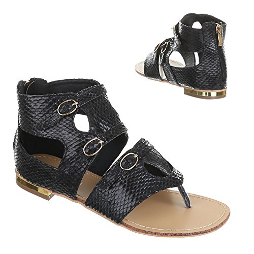 Womens Shoes, GM2071, Sandals Black - Black