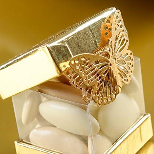 3,5 x 2,5 cm gold Metallschmetterling ca Klammer Schmetterling 4 Stk 4123