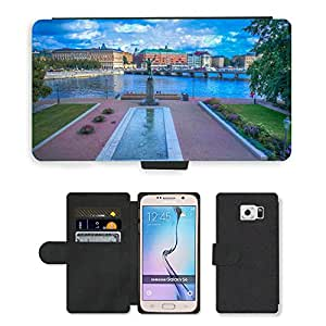 Hot Style Cell Phone Card Slot PU Leather Wallet Case // M00169148 Stockholm Sweden Scandinavia Europe // Samsung Galaxy S6 (Not Fits S6 EDGE)