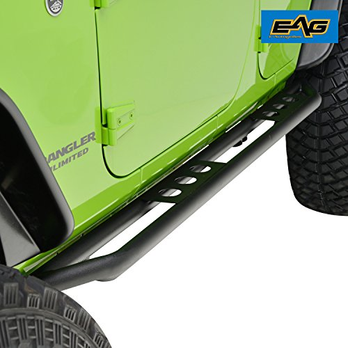 - EAG Rock Sliders for 07-18 Jeep Wrangler JK 4 Door Rocker Guard Body Armor