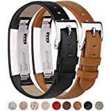 Tobfit for Fitbit Alta HR/Fitbit Alta Leather Bands [2 Pack] Replacement Wristbands for Fitbit Alta HR and Fitbit Alta No Tracker
