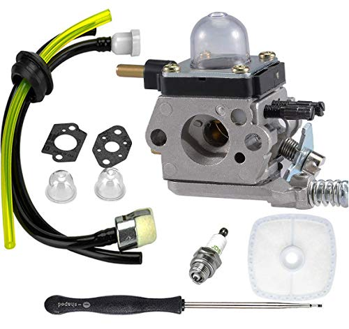 LEIMO  C1U-K82 C1U-K54A Carburetor, for 2-Cycle Mantis 7222 7222E 7222M 7225 7230 7234 7240 7920 7924 Tiller/Cultivator Carb with Air Filter Repower Kit -  ZAMA-OEM, OEM-K54A