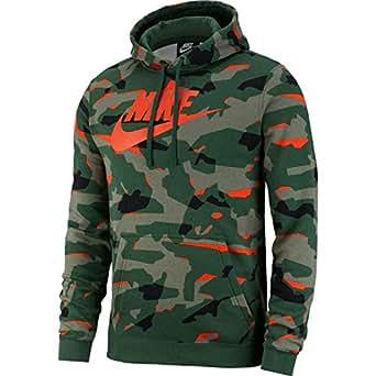 Nike Men's M Nsw Club Camo Hoodie Po Bbgx Hoodie, Orange , X-Large-NKAR2867-323