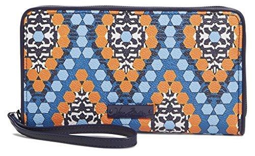 Vera Bradley Women's Large Zip-Around Wallet Marrakesh Beads Clutch