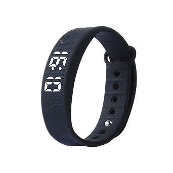 Elegante reloj de pulsera de, Vigilancia de la salud Cuentapasos 3d Moda Impermeable Pulsera-B: Amazon.es: Relojes