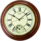 Seiko Wall Clock (30.2 cm x 30.2 cm x 4.5 cm, Brown, QXA494B)