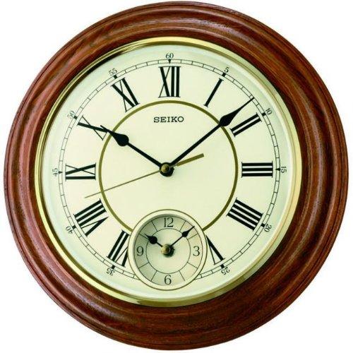 Get Upto 24% Off on Seiko Wall Clock (30.2 cm x 30.2 cm x 4.5 cm,Brown,QXA494B)